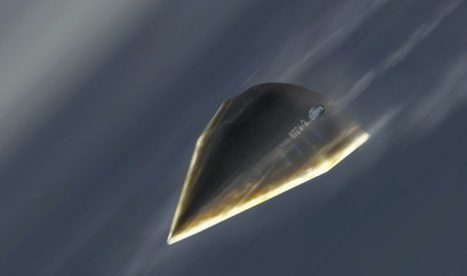 An artistic rendition of DARPA's Hypersonic Technology Vehicle (HTV-2). The Air Force wants to develop a new hypersonic vehicle. (DARPA)