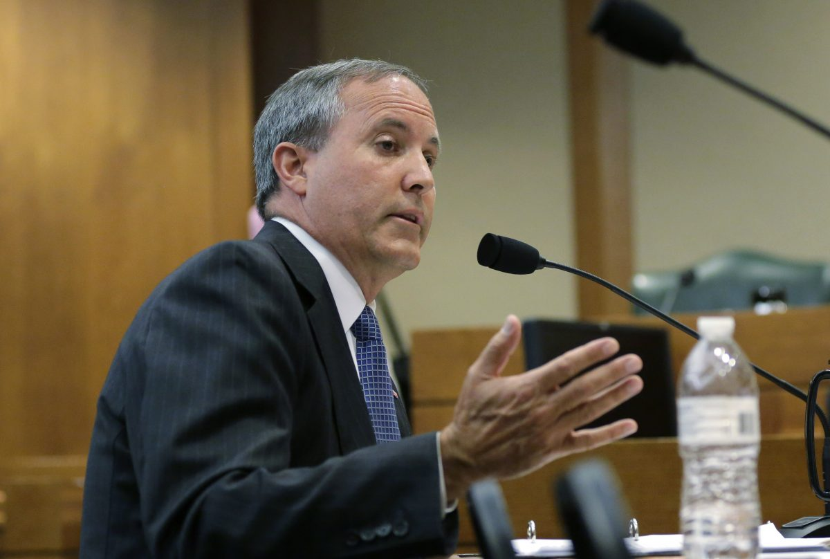 Texas Attorney General Ken Paxton speaks during a hearing in Austin, Texas, July 29, 2015. (AP Photo/Eric Gay)