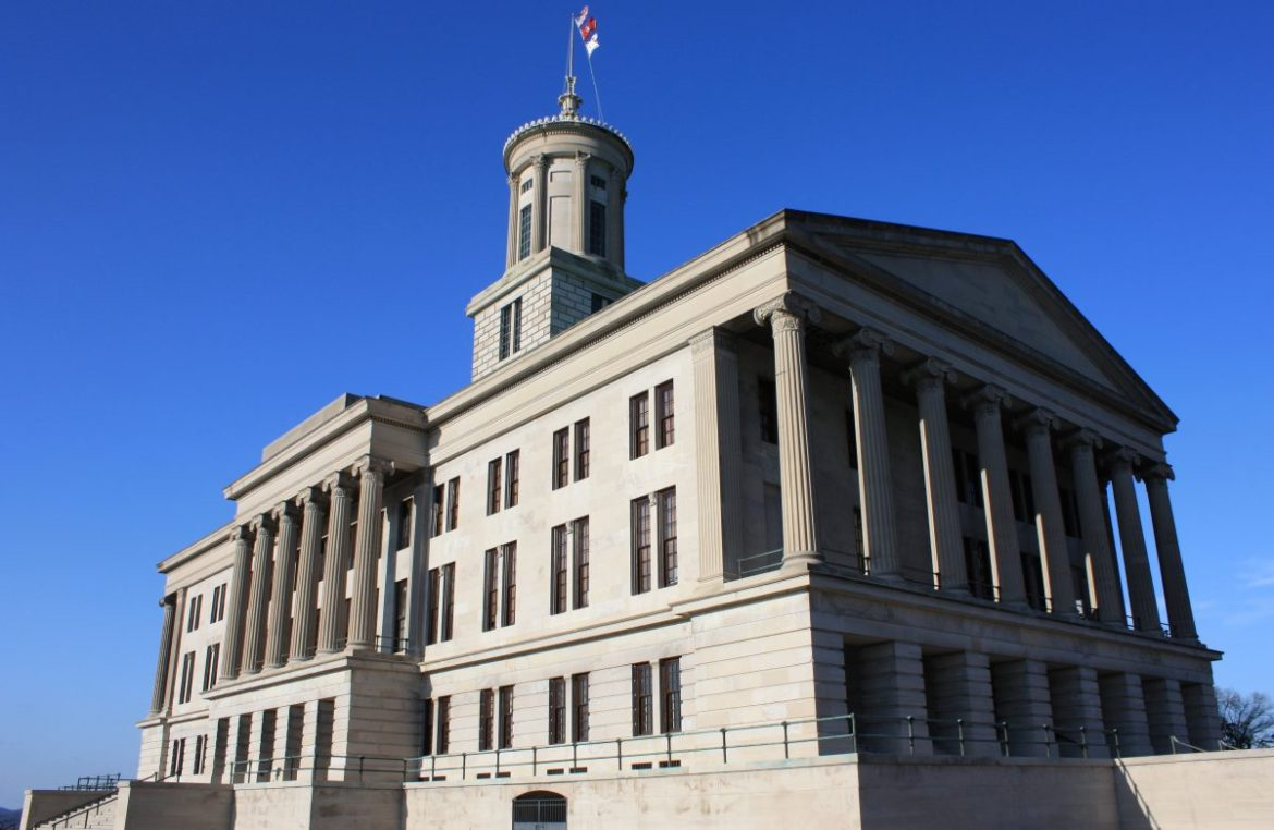 The Tennessee State Capitol is pictured
