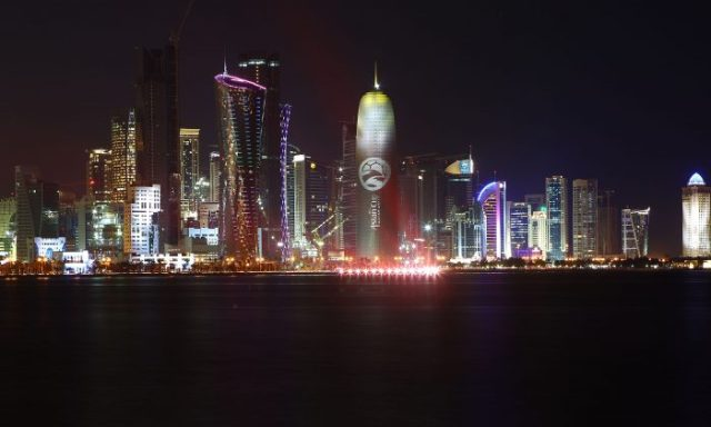 A general view of the city of Doha at night in Qatar on Jan. 10, 2011. (Robert Cianflone/Getty Images)