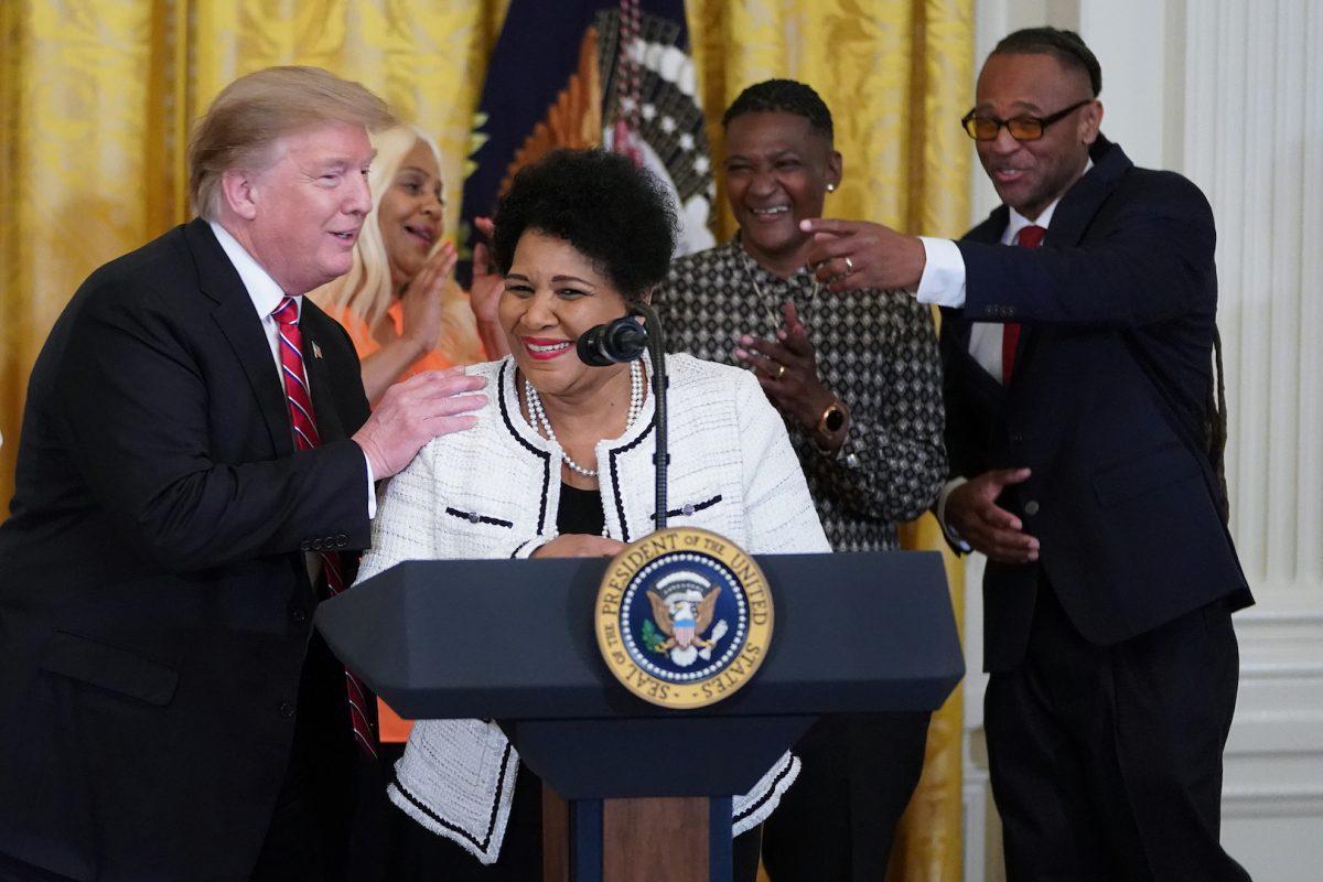 Alice Marie Johnson and President Trump