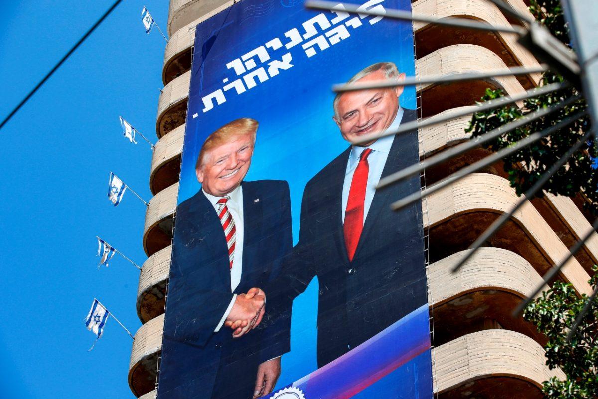 netanyahu election poster.