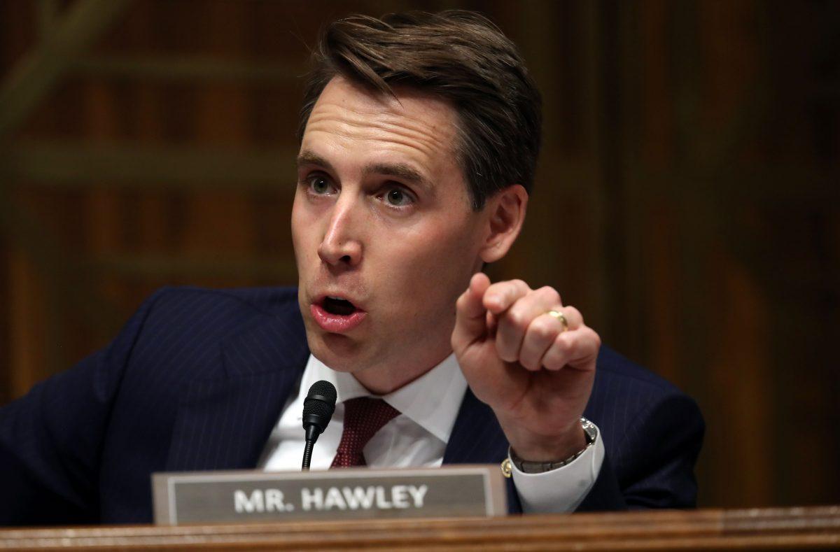 Sen. Joshua Hawley in Washington