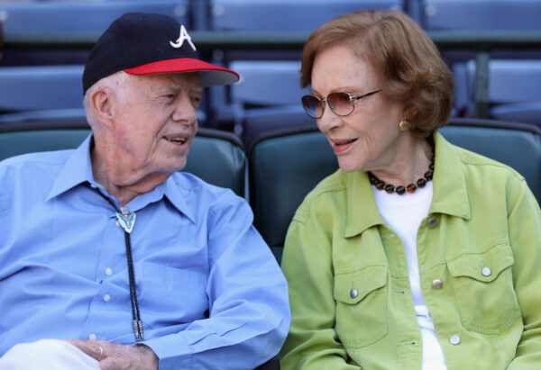 Former President Jimmy Carter and wife Rosalyn