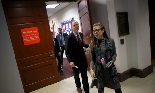 Rep. Adam Schiff (D-CA), Chairman of the House Select Committee on Intelligence Committee arrives at a press conference at the U.S. Capitol on Oct. 08, 2019 in Washington, DC. (Win McNamee/Getty Images)