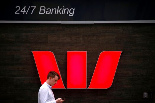 A logo for Australia's Westpac Banking Corp
