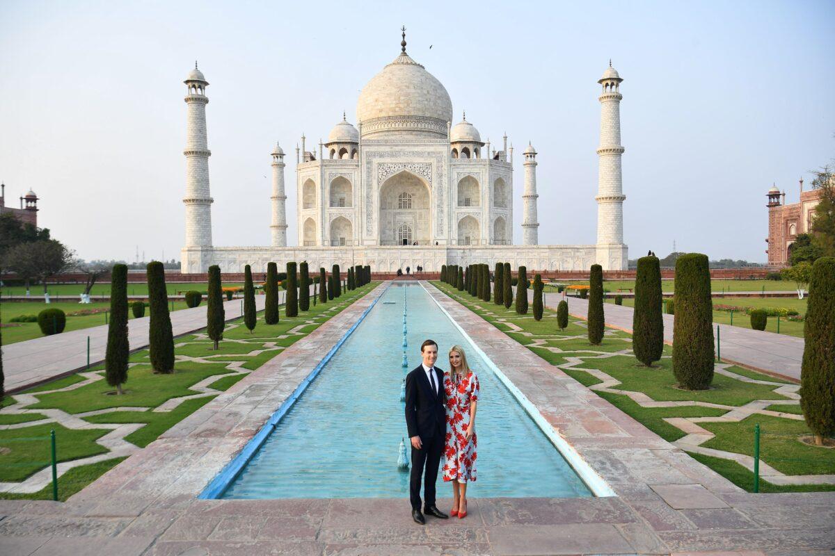 Ivanka Trump and Jared Kushner at Taj Mahal