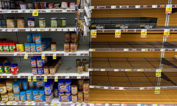 Grocery store shelves in Kroger Co.'s Ralphs supermarket amid fears of the global growth of CCP virus cases, in L.A., Calif., U.S. on March 15, 2020.