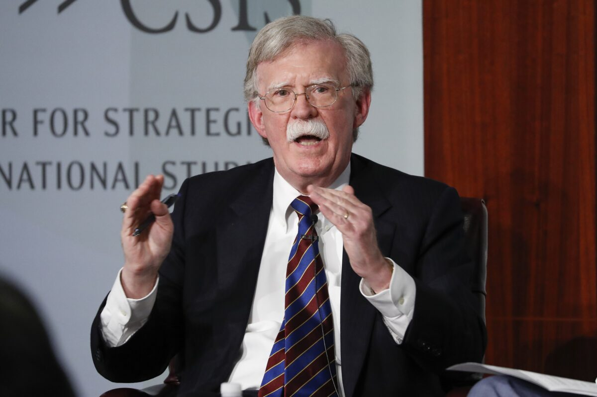John Bolton talks