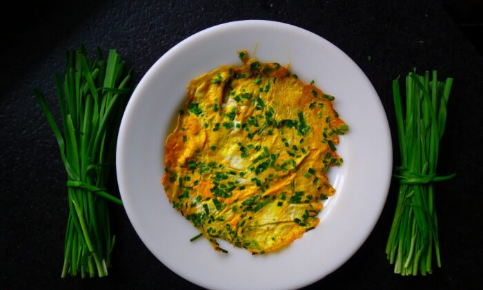 Chinese Chive Pancakes, and the Art of Pancake Flipping