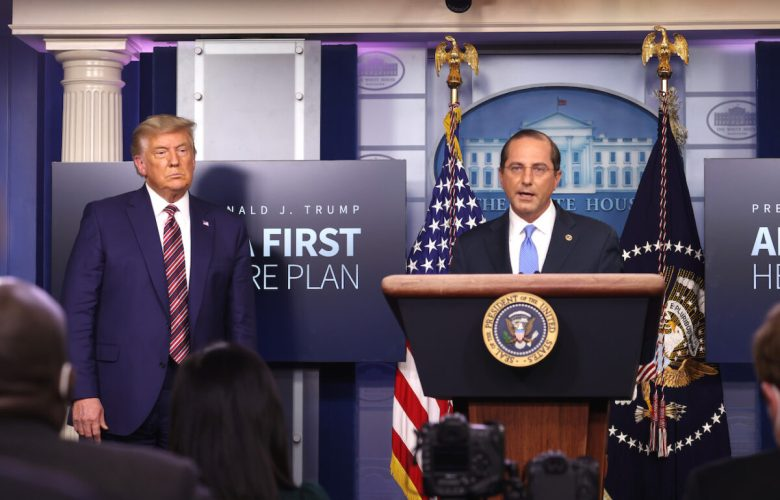 President Trump Speaks To The Press In The White House Briefing Room
