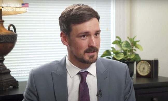 """Parler founder and CEO John Matze speaks to The Epoch Times' Jan Jekielek on """"American Thought Leaders"""" in 2019. (Screenshot/The Epoch Times)"""