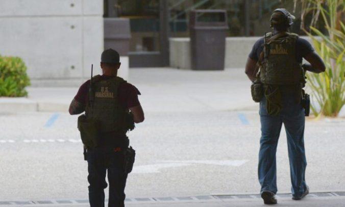U.S. Marshalls are pictured in a file photo taken, in Santa Monica, Calif., on June 7, 2013. (Joe Klamar/AFP via Getty Images)