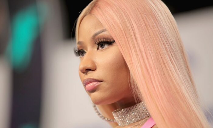 Nicki Minaj attends the 2017 MTV Video Music Awards at The Forum in Inglewood, Calif., on on Aug. 27, 2017. (Christopher Polk/Getty Images)
