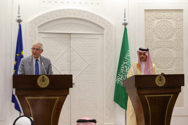 Josep Borrell and Faisal bin Farhan Al-Saudi