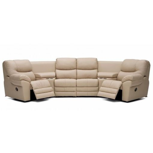 justin ii fabric reclining sectional sofa wicker sofas for sale palliser divo leather monai