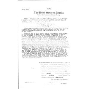 Oliver W Long, Serial Land Patent in Goshen County
