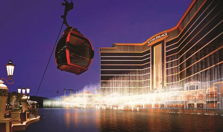 The Wynn Palace in Cotai. Macau. offers a 360-degree take on all things opulent