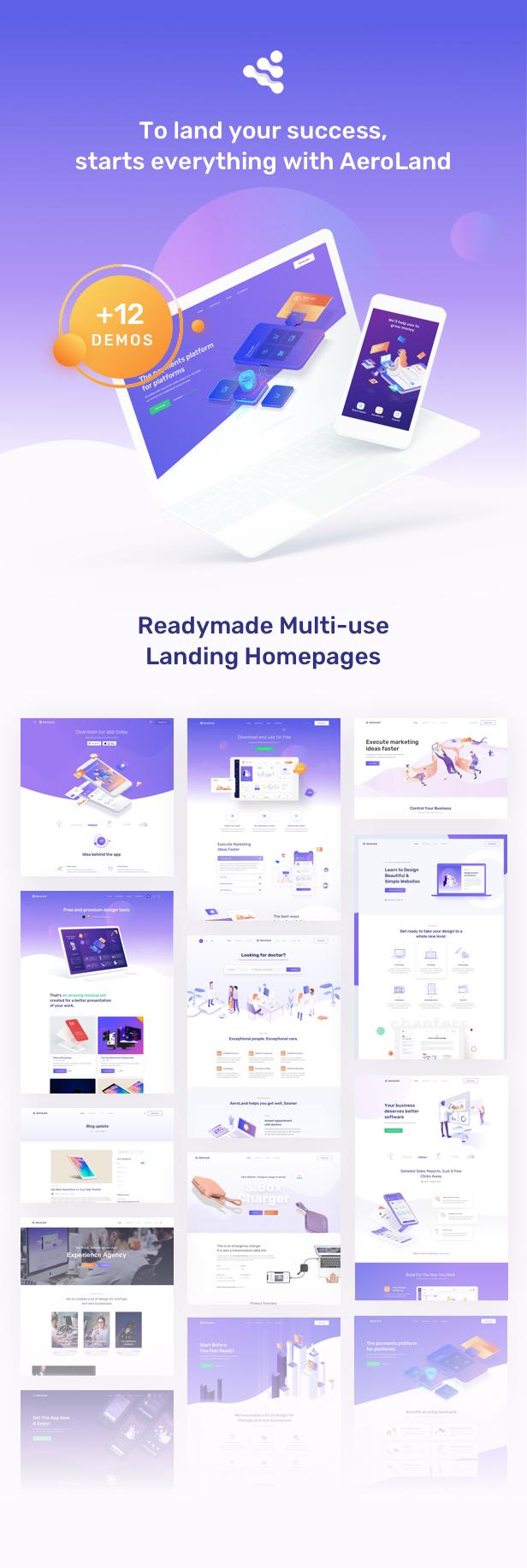 AeroLand - Responsive App Landing and Website WordPress Theme - 10