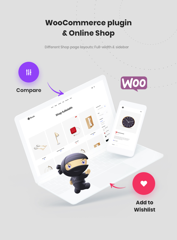 Beautiful Shop with WooCommerce plugin