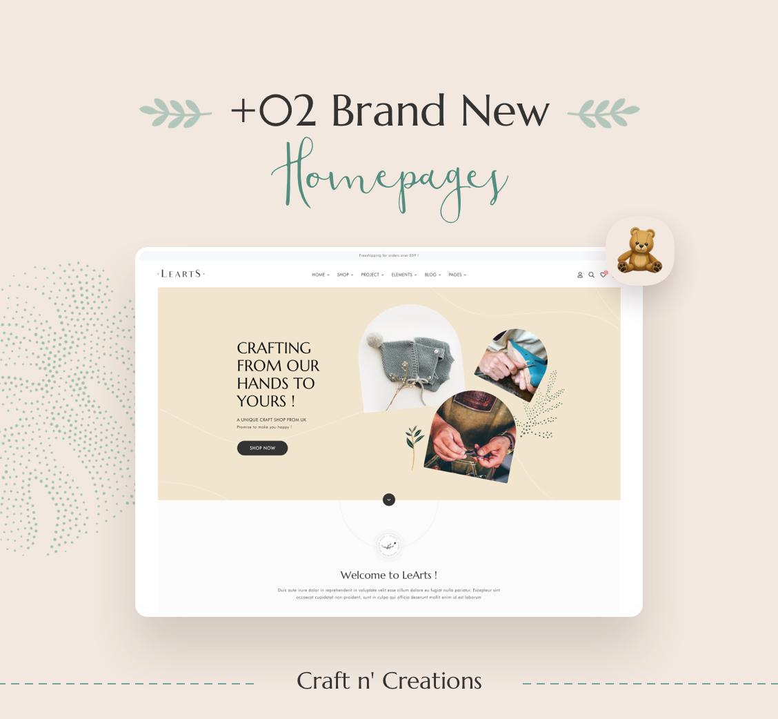 LeArts - Handmade Shop WooCommerce WordPress Theme - 4
