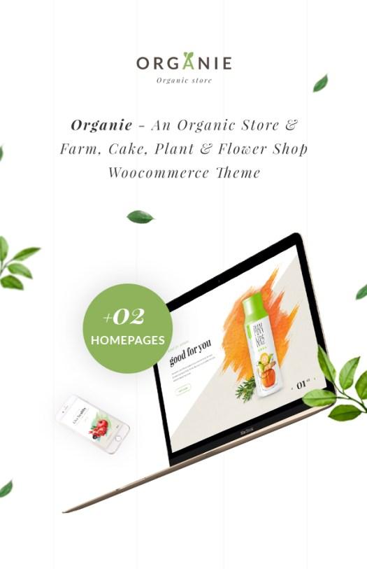 Organie - An Organic Store, Farm, Cake and Flower Shop WooCommerce Theme