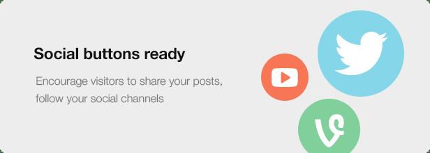 Interior Design WordPress Theme - Social Buttons Ready
