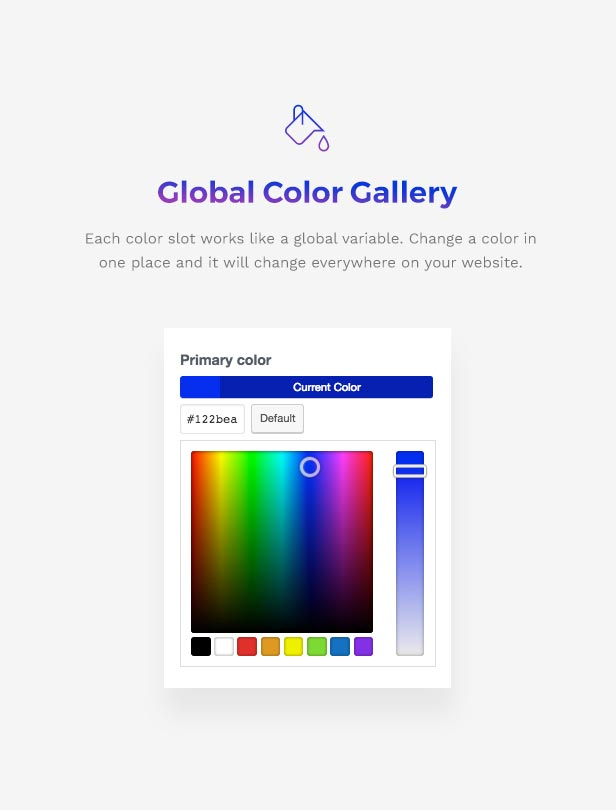 Corporation WordPress Theme - Global Color Gallery