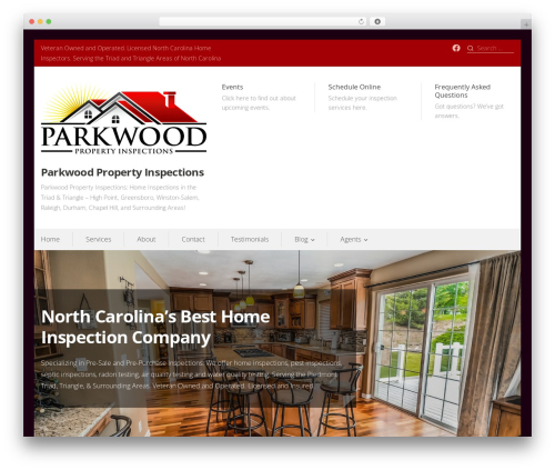 Prosperity real estate template WordPress - parkwoodpropertyinspections.com