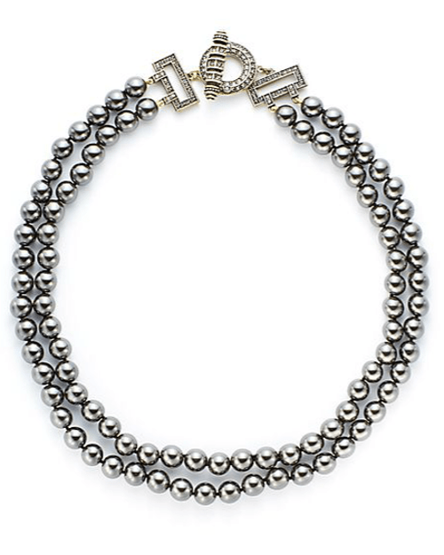 Heidi Daus Two Fab Bead & Crystal Toggle Necklace from