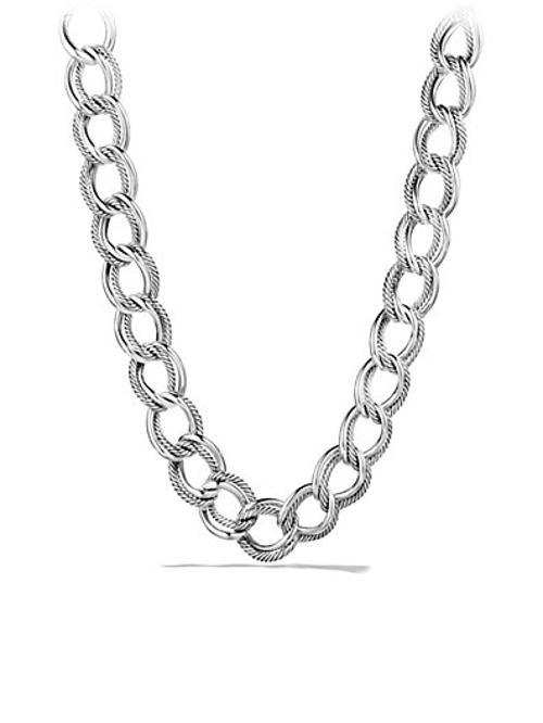 Helen Mirren David Yurman Curb Link Wide Necklace from The