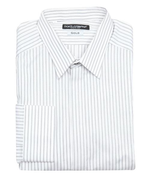 Dolce & Gabbana Striped Button Placket Dress Shirt from