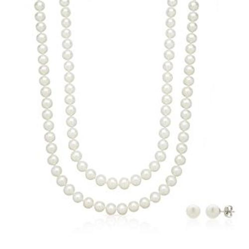 Honora Freshwater Cultured Pearl Strand Necklace & Stud
