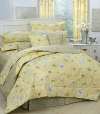 Laura bedding Laura Yellow Floral & Plaid Bedding ...