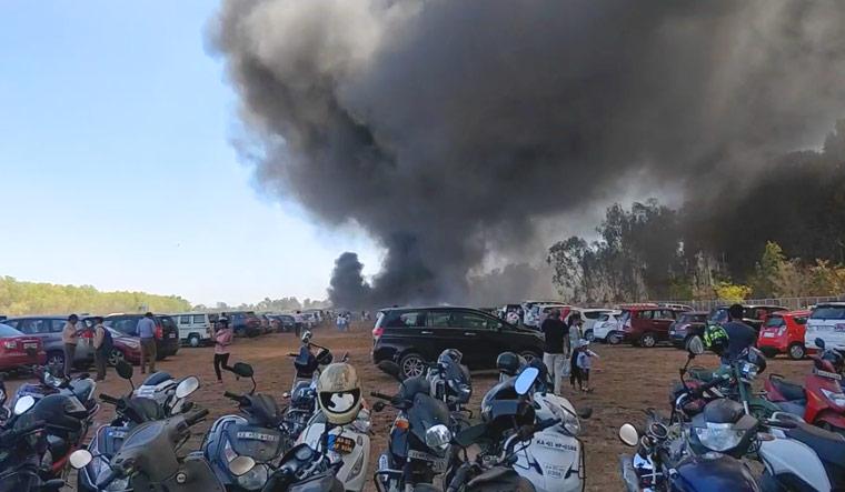 Around 100 cars gutted at AeroIndia 2019 show at Bengaluru