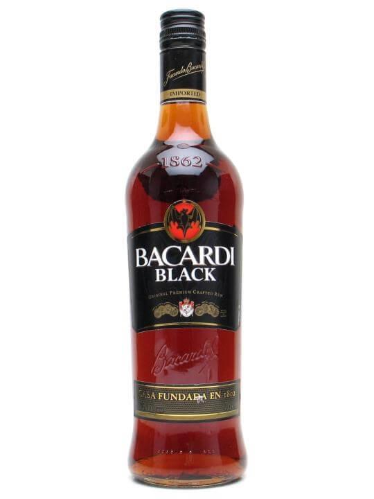 Bacardi Black Rum Buy From Worlds Best Drinks Shop