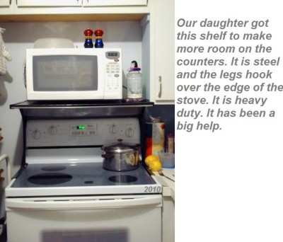 installing a microwave oven over the
