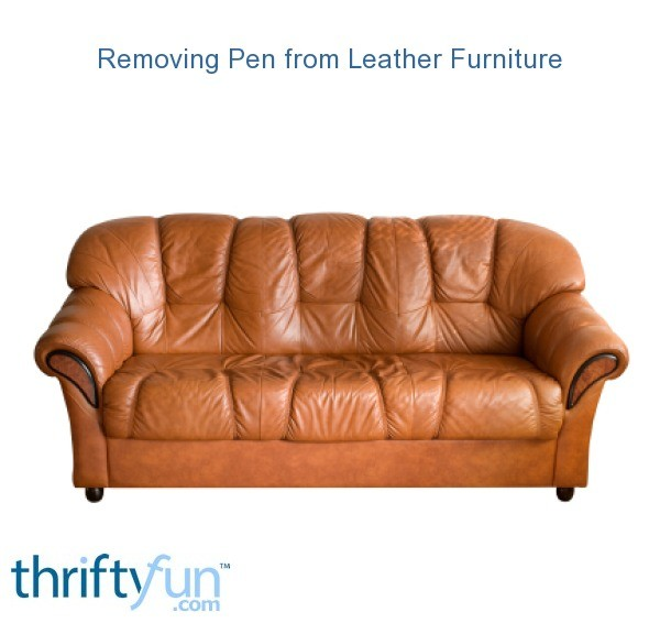 how to remove pen ink from white leather sofa armless bed with storage removing furniture | thriftyfun