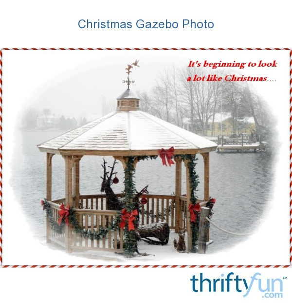 Christmas Gazebo Photo ThriftyFun
