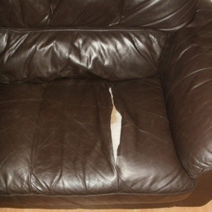how to repair a large tear in leather sofa antique sofas images torn couch ing ...
