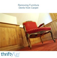 Removing Furniture Dents from Carpet | ThriftyFun