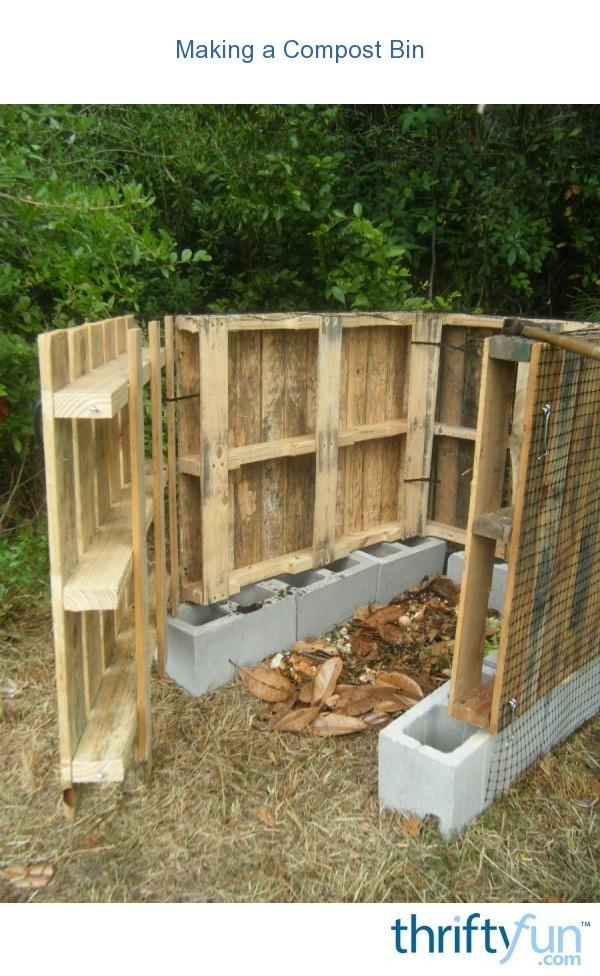 Making a Compost Bin  ThriftyFun