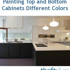 Bottom Kitchen Cabinets Trash Compactor Painting Top And Different Colors | Thriftyfun