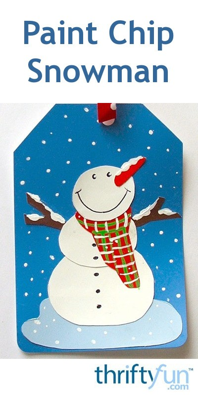 Making a Paint Chip Snowman Gift Tag  ThriftyFun