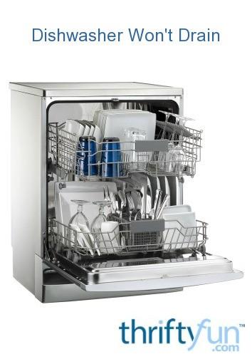 Can I Use Drano In Dishwasher : drano, dishwasher, Dishwasher, Won't, Drain, ThriftyFun