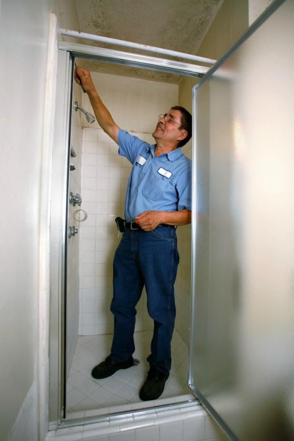 Fixing a Shower Door Latch  ThriftyFun