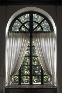 Making a Curtain for an Arched Window | ThriftyFun