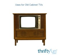 Uses for Old Cabinet TVs | ThriftyFun