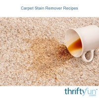 Carpet Stain Remover Recipes