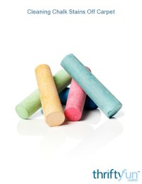 Cleaning Chalk Stains Off Carpet | ThriftyFun